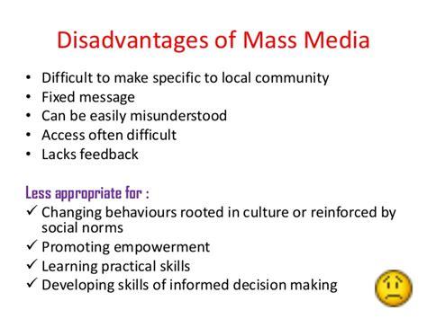 Mass Media Essay Advantages Disadvantages by Of Mass Media