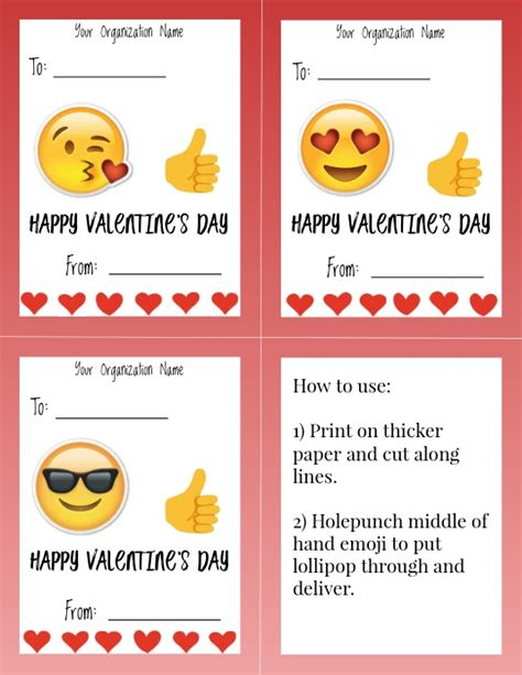 template valentines day candy gram postermywall