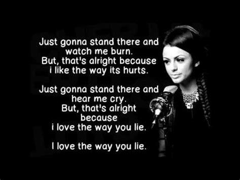 eminem love the way you lie lyrics cher lloyd love the way you lie lyrics youtube