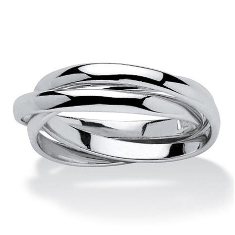 sterling silver tri band rolling ring palm jewelry
