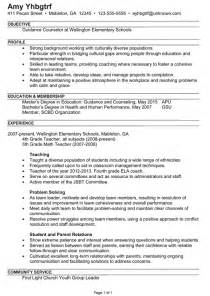 Objectives Of Career Guidance Combination Resume Example Guidance Counselor