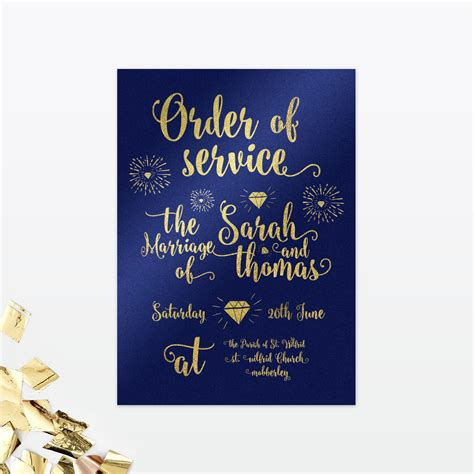 wedding invitation order of glitz and order of service invited luxury