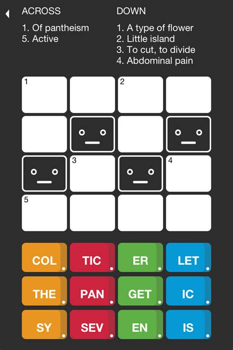 easy crossword puzzles for ipad tiny crosswords the crossword game for iphone ipod