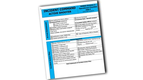 Active Shooter For Ems Power Point Active Shooter Emergency Plan Template
