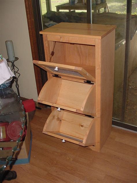 potato bin woodworking plans potato storage bins wood projects