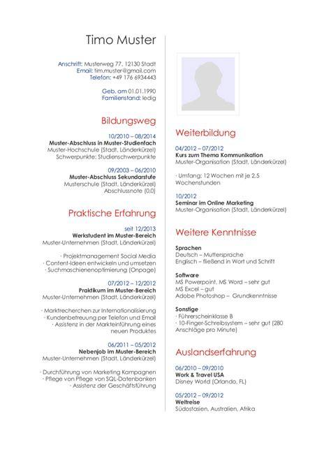 Lebenslauf Beispiel Musiker Bewerbungsmuster F 252 R Publisher Lebenslauf Designs
