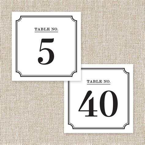 printable a4 number cards wedding table numbers printable pdf by basic invite