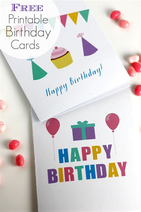 Free Printable Birthday Cards Free Printable Blank Birthday Cards Catch My Party