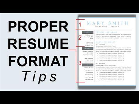 Resume Proper Font Size by Free Proper Resume Format 2016 Recentresumes