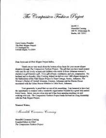 compassion fashion project thank you letter to pink