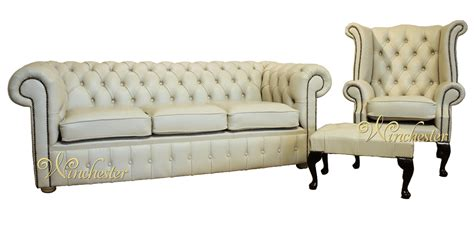 why is a couch called a chesterfield chesterfield cream leather sofa offer 3 1 footstool