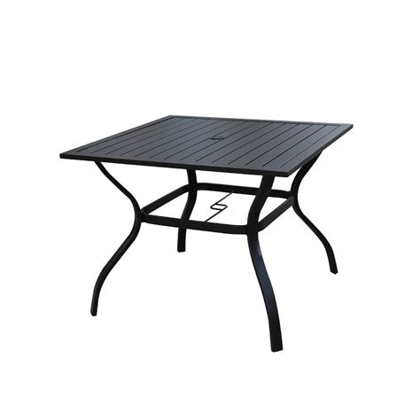 patio festival square metal outdoor dining table pf