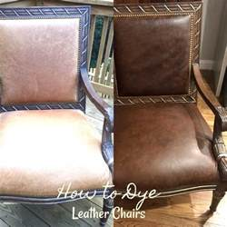 how to dye leather chairs southern hospitality