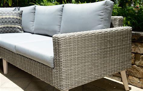 grey rattan corner sofa garden furniture original