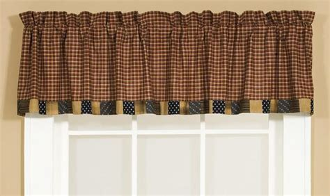 Patriotic Patch Shower Curtain Country Burgundy Plaid
