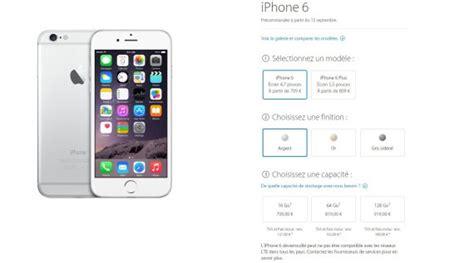 l iphone 6 les prix de l iphone 6 plus et de l iphone 6 d 233 voil 233 s les tarifs sans forfait chez orange