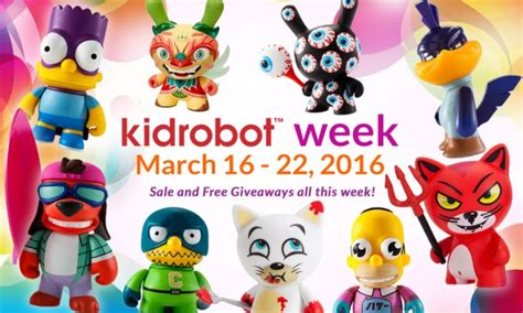 Free Sles And Giveaways - kidrobot week huge sale and free giveaways all this week