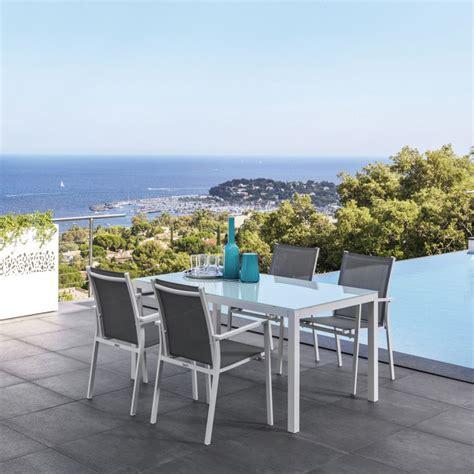 sedie per tavolo in vetro maiorca t tavolo in alluminio con piano in vetro 152x90