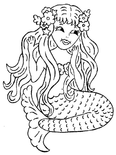 Mermaid Coloring Pages Free Printable free printable mermaid coloring pages for