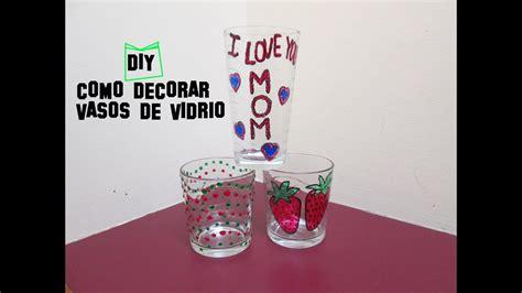 decoracion de vasos de vidrio para navidad diy como decorar vasos de vidrio para el dia de las madres