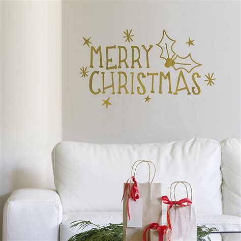 merry wall sticker merry wall sticker by oakdene designs