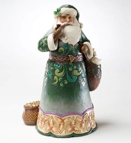 jim shore santa figurine green irish santa claus saint