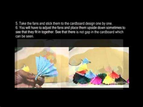 ganpati decoration ideas for home card boards ganesha decoration fan make it at home youtube