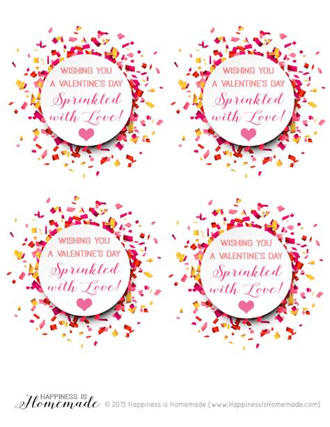 valentines to print quot sprinkled with quot confetti happiness is