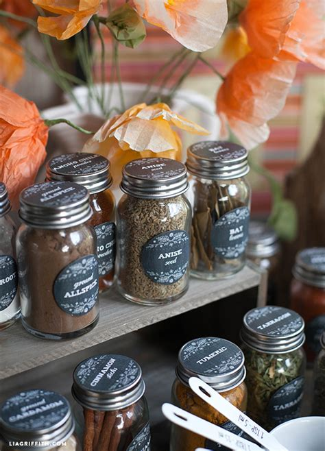 Herb And Spice Jars Printable Farmhouse Herb Spice Labels World Label
