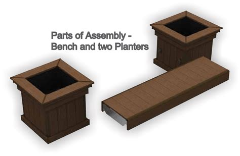 deck bench planter composite deck contractor in ma azek bench planter
