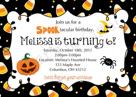 free printable halloween borders invitations halloween themed birthday party invitations dolanpedia