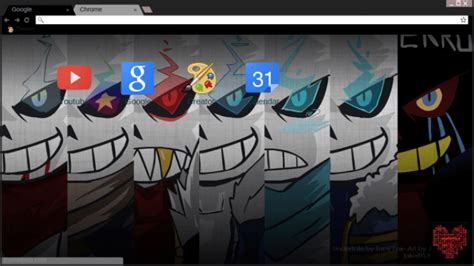 google themes undertale undertale au sans chrome theme themebeta