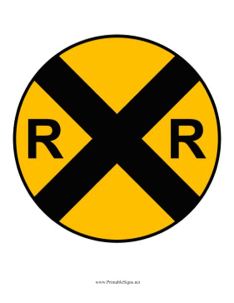 printable railroad signs printable train signs clipart best