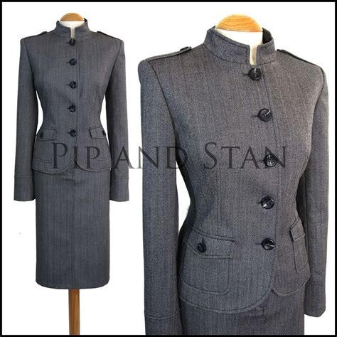 uk16 14 us12 10 next size grey pencil skirt suit wool