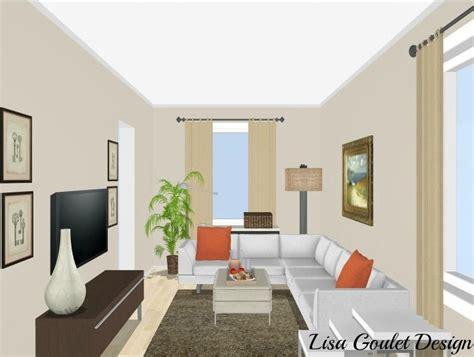 furnish  love  long narrow living room