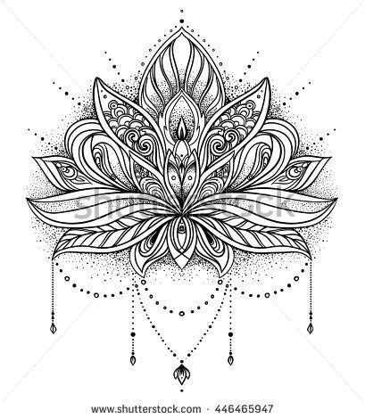 geometric tattoo lotus flower mandala design