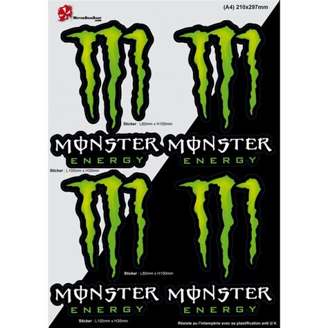 Monster Energy Sticker Shop by Sticker Autocollant Monster Energy Planche