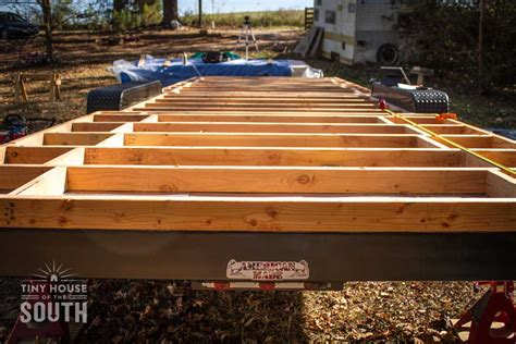 tiny house subfloor construction part ii