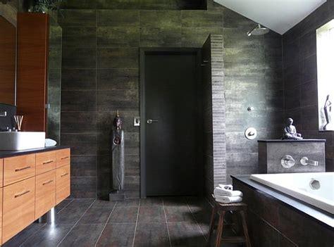 Oriental Bathroom With Doorless Shower Design Decoist Doorless Shower Designs For Small Bathrooms