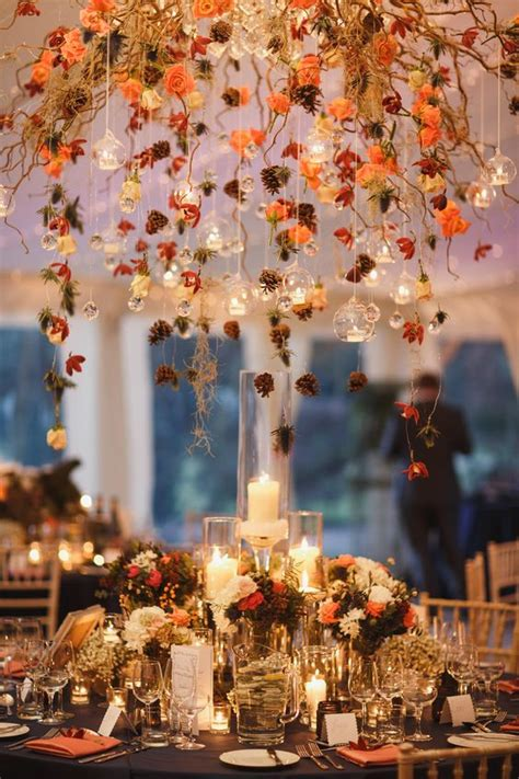 fall wedding table decorations photos autumn wedding flowers ask the experts chwv