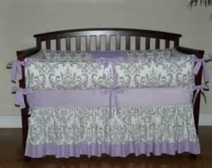 Purple Damask Crib Bedding Baby Bedding Grey Damask Teal Pink 1pc 4pc