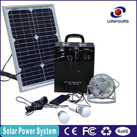 portable solar lighting 100w mini portable solar home fan lighting system buy