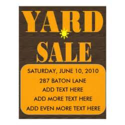 garage sale flyer template word yard sale flyer sign zazzle
