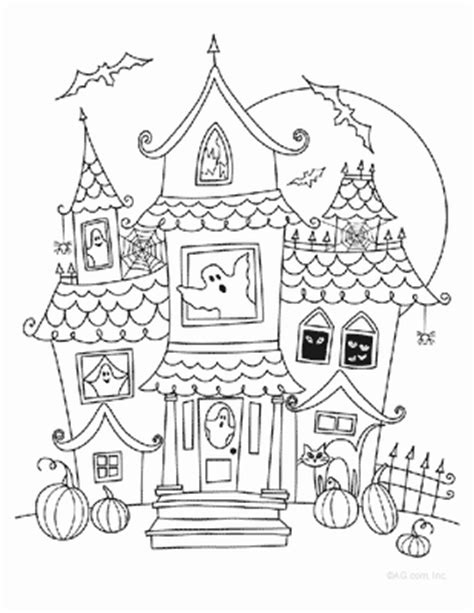 printable coloring pages of haunted houses printable halloween coloring pages printable halloween