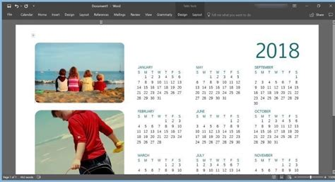 how to make a calendar in word windows 7 how to create 2018 calendar using office word or excel