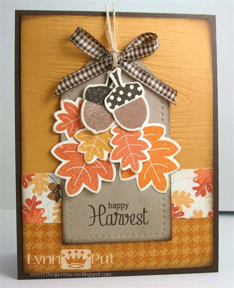 fall cards to make the s happy harvest