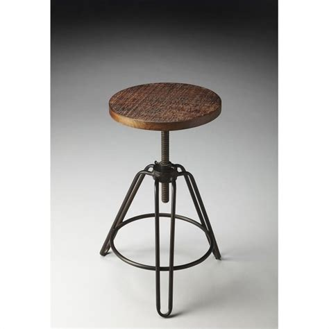 Chic Bar Stool by Butler Specialty Industrial Chic Bar Stool With Distressed
