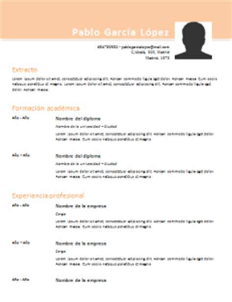 Plantilla Curriculum Vitae Para Rellenar Excel 50 Plantillas De Curriculum Vitae En Word Para Rellenar Gratis