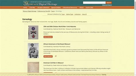 Missouri Digital Records Genea Musings Tuesday S Tip Check Out Missouri Digital Heritage Collections