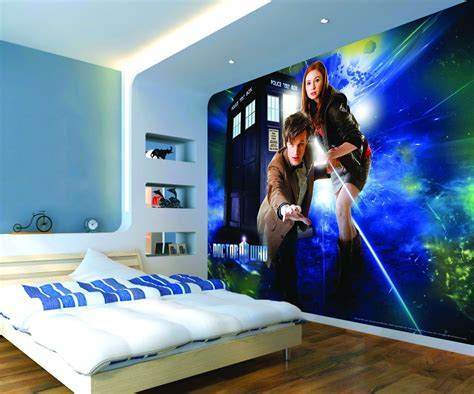 dr who bedroom amy and dr who mural murals wallpaper direct